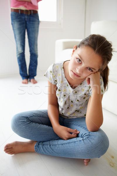 Fiatal lány gond anya nő lány padló Stock fotó © monkey_business