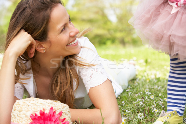 Mother And Daughter In Summer Field Together Stock photo © monkey_business