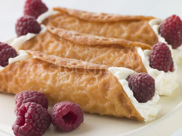 кремом бренди малина приготовления десерта еды Сток-фото © monkey_business