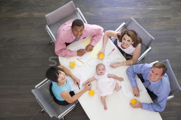 Zdjęcia stock: Cztery · sali · konferencyjnej · baby · tabeli · działalności