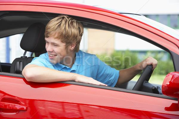 Teenage Boy Sitting In Car Stock photo © monkey_business