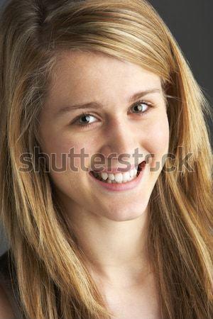 肖像 十代の少女 色 代 スタジオ 美しい ストックフォト © monkey_business