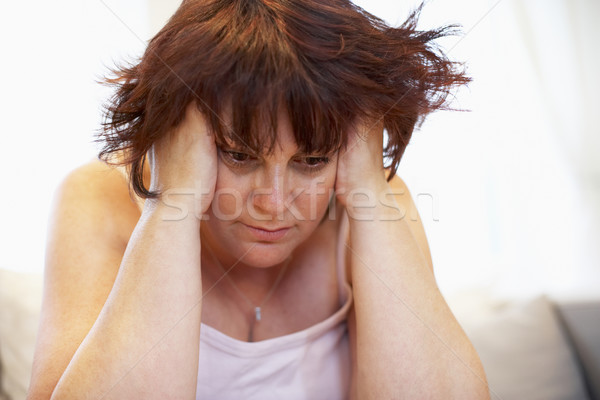Stock photo: Depressed Overweight Woman