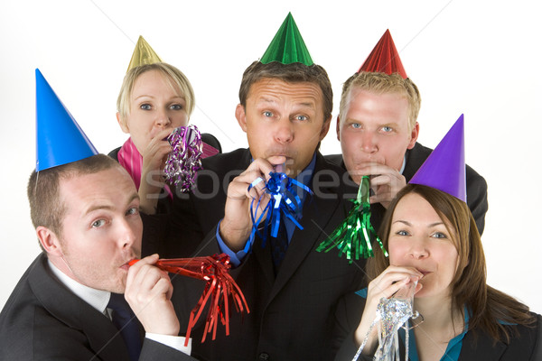 Group Of Business People Wearing Party Favors Stock photo © monkey_business