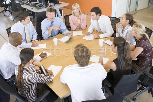 Foto stock: Stock · reunión · negocios · mujeres · hombres · grupo