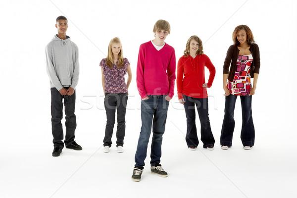 Studio ritratto cinque adolescente amici Foto d'archivio © monkey_business