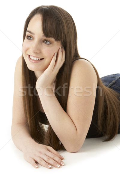 Studio portrait adolescente blanche fille visage Photo stock © monkey_business