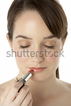 Teenage Girl Applying Make Up Stock photo © monkey_business