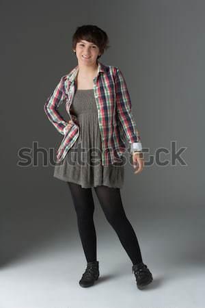 Full Length Studio Portrait Of Teenage Girl Stock photo © monkey_business