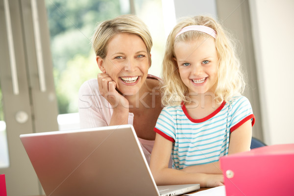 Mother And Daughter Using Laptop At Home Stock photo © monkey_business
