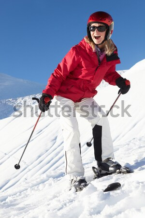 Young Woman On Skis Stock photo © monkey_business