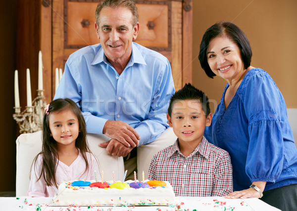 Grandparents Celebrating Children's Birthday Stock photo © monkey_business
