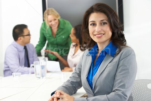 Porträt Geschäftsfrau Sitzungssaal Kollegen Business Büro Stock foto © monkey_business