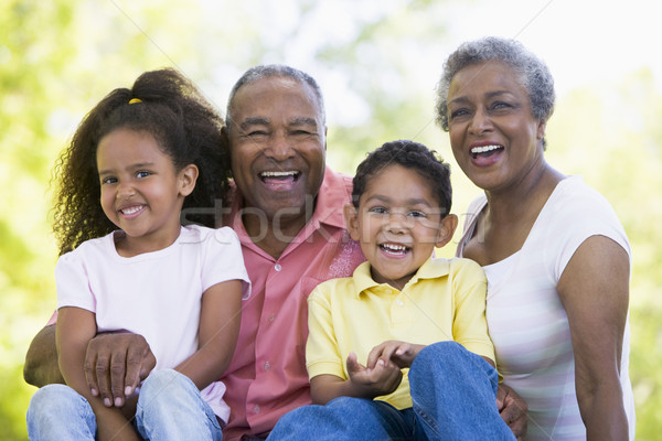 Grandparents laughing with grandchildren Stock photo © monkey_business