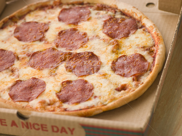 Pepperoni Pizza in a Take Away Box Stock photo © monkey_business