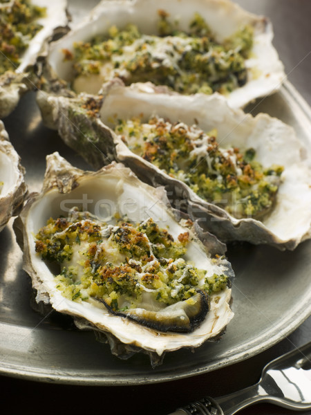 Platter of Oysters Rockefeller Stock photo © monkey_business