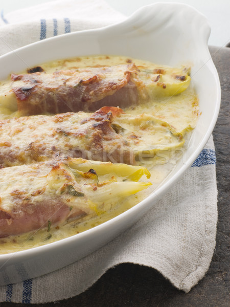 Dish of Chicory Gratin with Bacon Stock photo © monkey_business