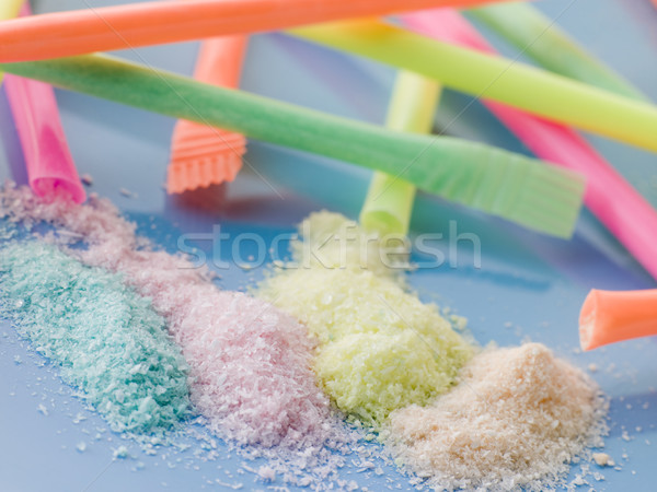 Different Coloured Sherbet Stock photo © monkey_business