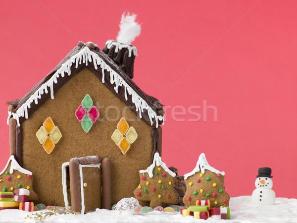 Mézeskalács ház gyerekek csokoládé kenyér cukorka Stock fotó © monkey_business