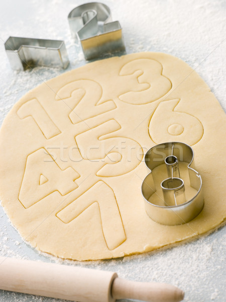 Cutting out Number Shape Biscuits Stock photo © monkey_business