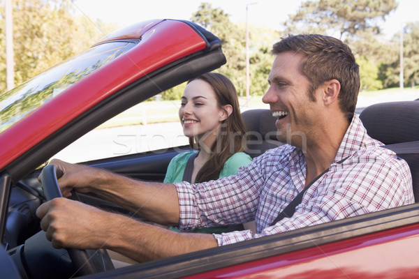 Stockfoto: Paar · auto · glimlachend · vrouw · man · mannelijke