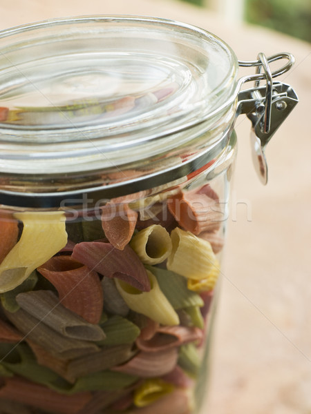 Jar Of Multi-Coloured Pasta Stock photo © monkey_business