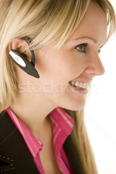 Zakenvrouw praten handen gratis telefoon business Stockfoto © monkey_business