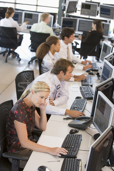 High Angle View Of Stock Traders At Work Stock photo © monkey_business