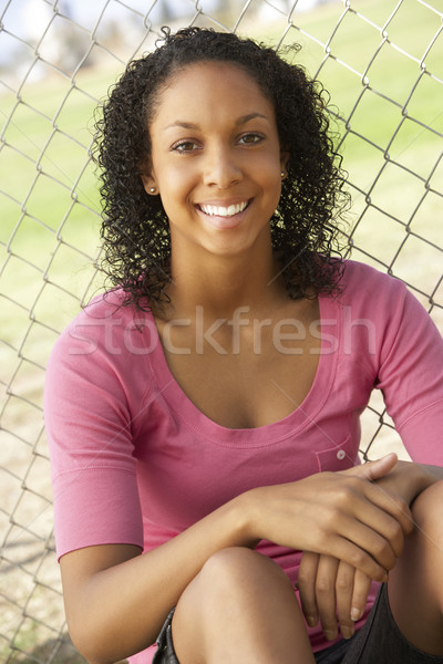 Teenage Girl Sitting In Playground Stock photo © monkey_business