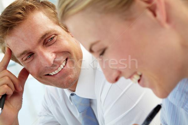 üzleti megbeszélés iroda szeretet nők megbeszélés asztal Stock fotó © monkey_business