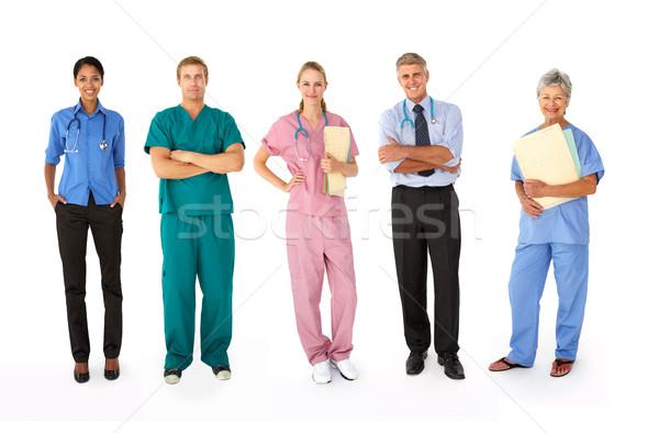 Mieszany grupy medycznych pracy szpitala Zdjęcia stock © monkey_business