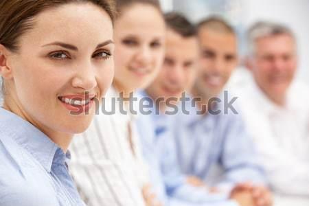 Squadra uomini d'affari business donne lavoro imprenditore Foto d'archivio © monkey_business