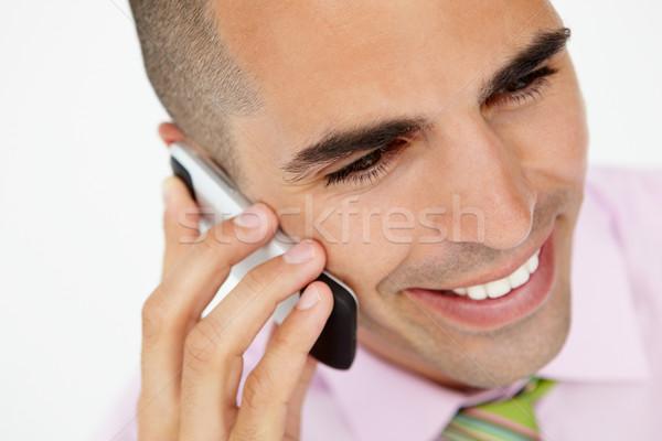 Сток-фото: молодые · бизнесмен · телефон · работу · рабочих