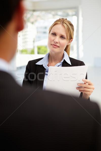 Entrevista de emprego escritório trabalhar empresário trabalhando leitura Foto stock © monkey_business