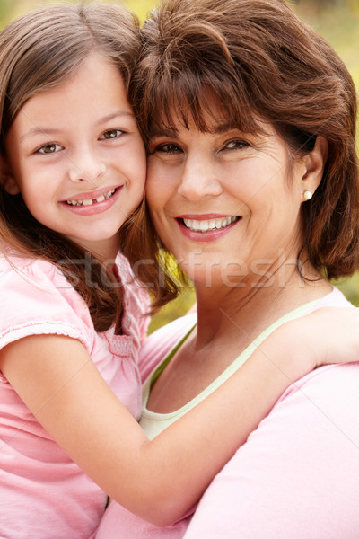 Hispanic grandmother and granddaughter Stock photo © monkey_business