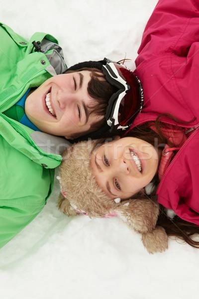 ストックフォト: 表示 · 2 · 青少年 · スキー · 休日 · 山