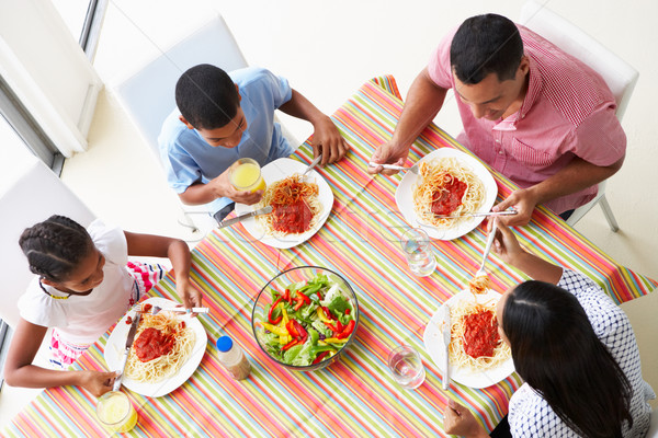 Overhead View Of Family Eating Meal Together Stock photo © monkey_business