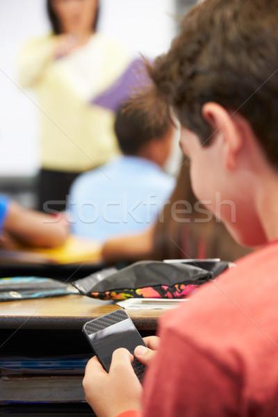 送信 携帯電話 クラス 子 技術 ストックフォト © monkey_business
