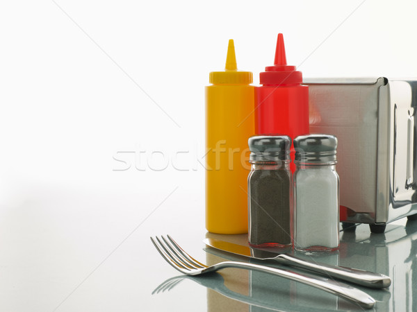 Diner Table with Sweet Condiments Stock photo © monkey_business