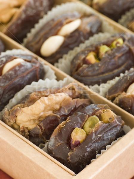 Data gevuld noten marsepein voedsel koken Stockfoto © monkey_business