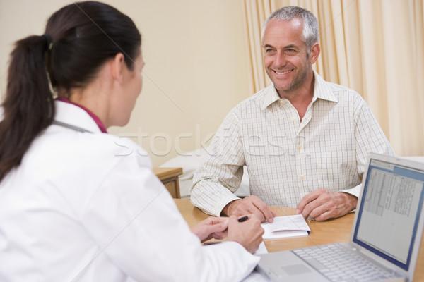 врач ноутбука человека улыбаясь Дать Сток-фото © monkey_business