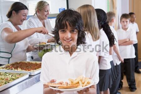 Ragazzi adolescenti fast food insieme alimentare scuola Foto d'archivio © monkey_business