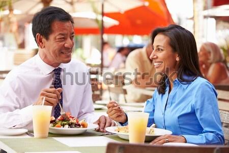 подростков быстрого питания вместе продовольствие пиццы Сток-фото © monkey_business