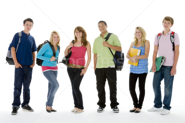 Gruppo shot adolescente scuola ragazzi felice Foto d'archivio © monkey_business