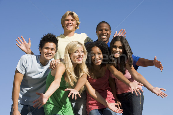 Group of young friends outside Stock photo © monkey_business