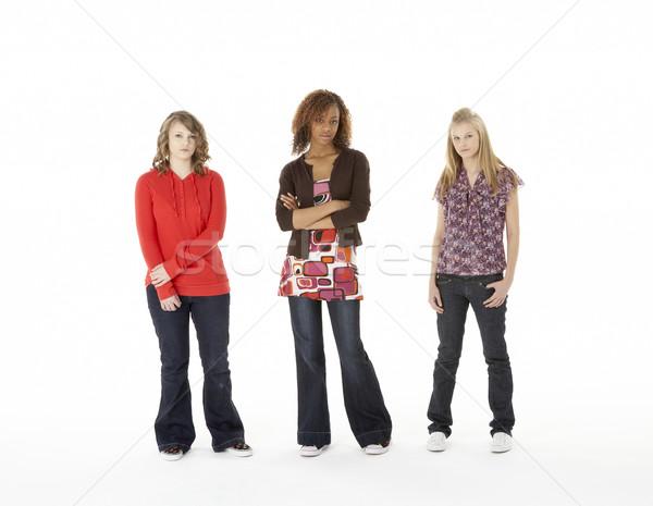 Full Length Portrait Of Three Teenage Girls Stock photo © monkey_business