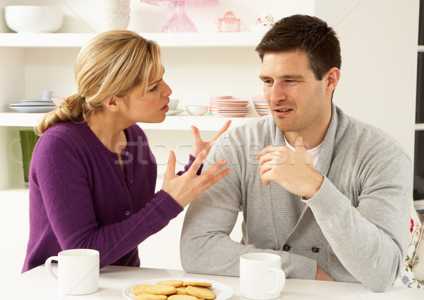 Couple Having Argument At Home Stock photo © monkey_business
