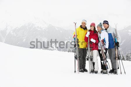 Jungen Mutter Sohn Ski Urlaub Kind Stock foto © monkey_business