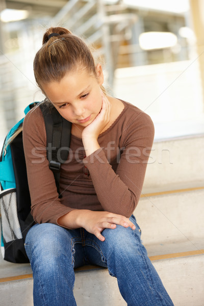 Unhappy Pre teen girl in school Stock photo © monkey_business