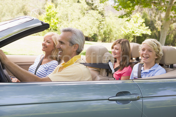 Family in convertible car smiling Stock photo © monkey_business